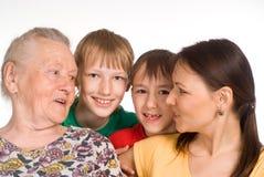 Nettes Familienfoto stockfoto