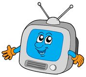 Nettes Fernsehen Stockbild