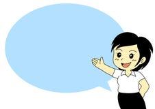 Nettes Frauendarstellen Lizenzfreies Stockfoto