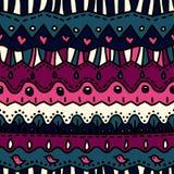 Nettes freihändiges nahtloses Muster Stockbild