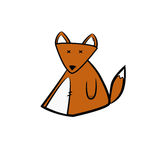 Nettes Fuchsbabyspielzeug Stockbilder