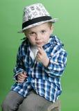 Nettes Funktionseigenschaft-Kind lizenzfreie stockfotos