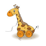 Nettes Giraffen-Spielzeug lizenzfreie abbildung