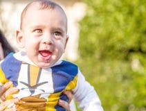 Nettes glückliches Baby Lizenzfreie Stockbilder