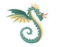 Nettes glückliches Fliegen-Baby Dragon Illustration Stockfotos
