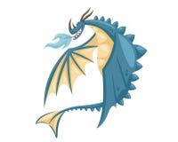 Nettes glückliches Fliegen-Baby Dragon Illustration Stockbild