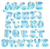 Nettes glattes blaues Alphabet Stockfoto