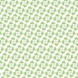 Nettes grünes Blattmuster auf weißem Hintergrund Lizenzfreie Stockbilder
