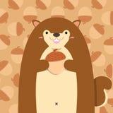 Nettes großes fettes Eichhörnchen Lizenzfreies Stockfoto