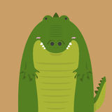 Nettes großes fettes Krokodil Lizenzfreie Stockfotografie