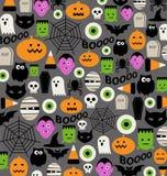 Nettes Halloween-Ikonenmuster Lizenzfreies Stockbild
