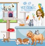 Nettes Haustier-Klinik-Willkommensschild stock abbildung