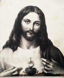 Nettes Herz Jesus Lizenzfreies Stockfoto