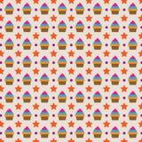 Nettes Hintergrund-Form-Muster des kleinen Kuchens Lizenzfreie Stockfotografie