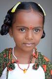 Nettes indisches Dorf-Mädchen lizenzfreie stockbilder