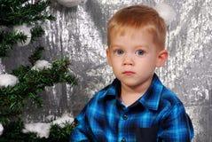 Nettes Jungenkinderweihnachten Lizenzfreies Stockbild