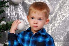 Nettes Jungenkinderweihnachten Stockfoto