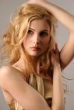 Nettes junges blondes Mädchen Stockbilder