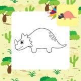 Nettes Karikatur Dino-Malbuch Lizenzfreies Stockbild