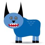 Nettes Karikatur Monster auf einem weißen Hintergrund Lizenzfreie Stockfotografie