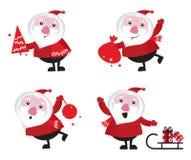 Nettes Karikatur Weihnachtsmann-Set stock abbildung