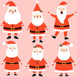 Nettes Karikatur Weihnachtsmann-Set lizenzfreie abbildung