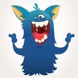 Nettes Karikaturmonster Charakter Vektor-Halloweens Bigfoot vektor abbildung