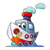 Nettes Karikaturschiff Stockfoto
