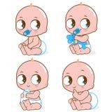 Nettes kaukasisches Baby vektor abbildung