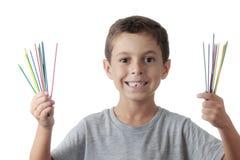Nettes Kind, das mikado spielt Lizenzfreies Stockfoto