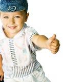 Nettes Kind, das okayzeichen zeigt Stockbild