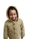Nettes Kind mit Winterkleidung lizenzfreies stockfoto