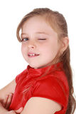 Nettes kleines blondes Mädchen stockfotos