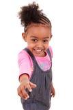 Nettes kleines Mädchen, das Daumen bildet Stockbilder