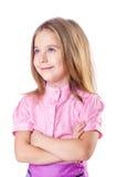 Nettes kleines Mädchen getrennt stockbilder