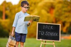 Nettes kleines Schülerlesebuch Lizenzfreie Stockfotografie