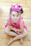 Nettes Kleinkindmädchen in der Tiara Lizenzfreie Stockfotos