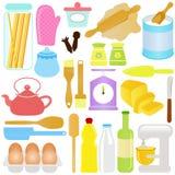 Nettes Kochen, backendes Thema Stockbilder