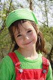 Nettes lächelndes kleines Mädchen Stockbilder