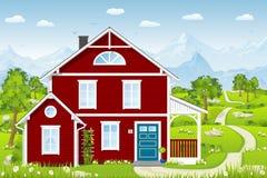Nettes Landhaus lizenzfreie abbildung