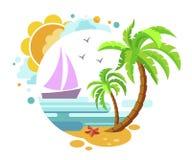 Nettes Logo auf dem Thema des Sommers Lizenzfreie Stockfotos