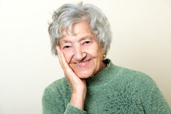 Nettes älteres Damenporträt Stockbild