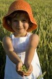 Nettes Mädchen auf Feld Lizenzfreies Stockbild