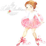 Nettes Mädchen ballerina Nettes Ballerinamädchen Ballerinaaquarell stock abbildung