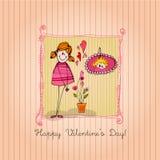 Nettes Mädchen für Valentinsgrußtag stock abbildung