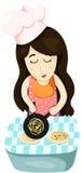 Nettes Mädchen-Kochen Lizenzfreie Stockbilder