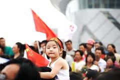 Nettes Mädchenfeiern olympisch Lizenzfreie Stockfotografie