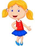 Nettes Mädchenkarikaturdarstellen Stockbild