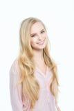 Nettes Mädchenlächeln Stockfoto