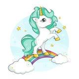 Nettes magisches Einhorn Kleines Pony vektor abbildung